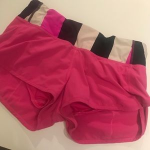 Hot pink lulu Running shorts Size 4